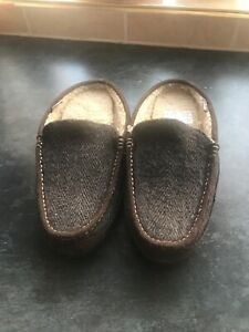 mens clarks slippers size 7 Brown