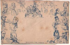 G.B. 2p. Mulready Caricature cover signed A. Mulheaded
