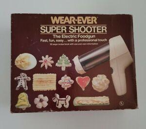 Vintage WEAR-EVER 70123 Electric Super Shooter Cookie Press Food Gun
