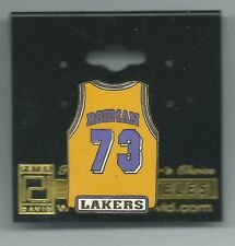 NBA Los Angeles Lakers Dennis Rodman #73 Yellow Jersey Pin OOP LIMITED!!!