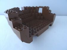 LEGO PART 2557 BROWN LARGE BOAT HULL BOW 12 x 16 x 5  1/3 TOP