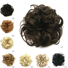 Soft Synthetic Hair Flexible Scrunchie Wrap for Wave Curly Hair Bun Ponytail New