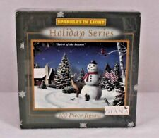 """100 Piece Jigsaw Puzzle Holiday Series """"Spirit of the Season"""" Sparkles in Light"""