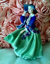Royal Doulton Hn 1833 Top Of The Hill Green & Blue Vibrant Colors Mint Cond