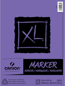 Canson XL Series Marker Paper Pad, Semi Translucent for Pen, Pencil or Marker, 9