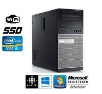 Dell Optiplex 790/990 Tower Windows 7/10 Intel Core i5 Quad C DDR3 WiFi HDD/SSD