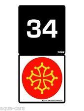 Adhesif Sticker Autocollant Pour Plaque D'immatriculation Hérault 34