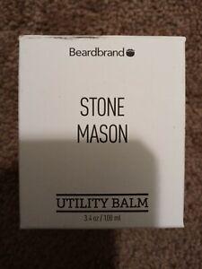 Beardbrand Stone Mason Utility Balm Beard Skin Hair Tattoo Moisturizer 3.4 oz.