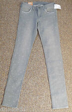 H&M jeans size W28/L32 grey with small crystals skinny low waist brand new
