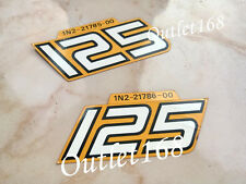 Pair NOS GENUINE OEM Yamaha RD125 RD RX 125 RX125 1N2 Side Sticker Decal Emblem