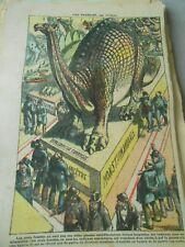 Fossil antediluvian diplodocus 1923 print humor