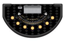 Professional Casino Black Spade Design Blackjack Table Layout / Felt