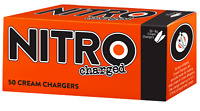 150 Whipped Cream Chargers 8g super Whip N  3 x 50 NITROcharged    NITRO50-150