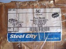 THOMAS & BETTS STEEL CITY 643 CAST IRON FLOOR BOX  NEW OLD STOCK