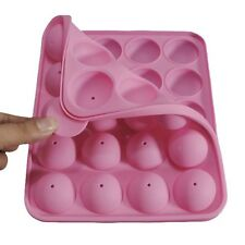 Pink Silicone Cake Pop Set Baking Ice Tray Mould Party Cookware Pan Maker