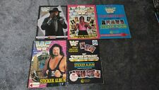 WWF set of 5 Merlin superstars sticker albums wwe, Rare