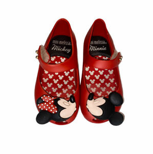 Mini Melissa Kissing Mickey & Minnie Mouse Shoes Size 7 Toddler kids Mary Jane