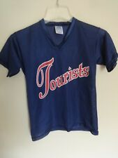 Vintage 90's Asheville Tourists Minor League Baseball Pullover Jersey Yth L SGA