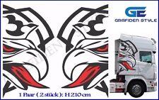1 Paar  SCANIA GREIF - LKW Kabinenseite Aufkleber - Sticker - H 210cm !<>!