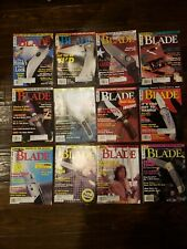 Lot of 12 Blade Magazines, Knives Complete Year 1997.