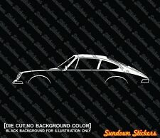 2x silhouette stickers aufkleber - for Porsche 911 912 1964-1973 oldtimer tuning
