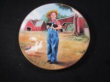 "Danbury Mint "" Rebecca Of Sunnybrook Farm "" Shirley Temple Plate with Coa"