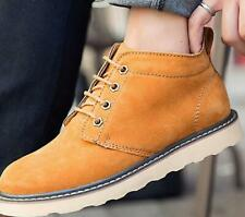 Mens Suede Solid leather Lace Up Hiking work boots Military casual Oxfords Shoes