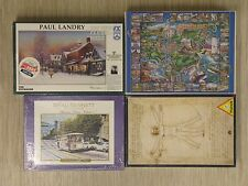 Lot of 4 Puzzles San Francisco Cable Car Kennebunks Maine The Toymaker New
