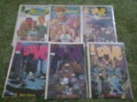 BONE#1, 9, 21 + Sourcebook + Bohos #1 & #2 IMAGE COMICS LOT OF 6 BOOKS