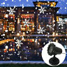 Snow Falling LED Moving Laser Projector Light Christmas Landscape Garden Lamp