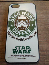 New Starbucks Coffee Parody Star Wars May the Froth Iphone 6 skin cover case