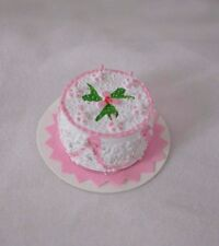 Pink Cake - dollhouse Classics Miniatures IM65105 1/12 scale birthday