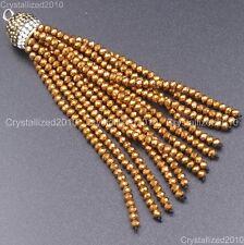 Czech Crystal Rhinestones Tassel Trim Applique Jewelry Making Pendant Necklaces