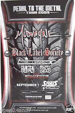 MUDVAYNE / BLACK LABEL SOCIETY / STATIC X 2009 SAN DIEGO CONCERT TOUR POSTER