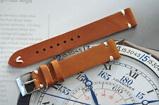 Beautiful European HANDMADE Leather 18mm Watch Strap Honey Brown Band Spring Bar