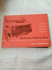 Libretto uso e manutenzione Alfa Romeo Gamma Ar 8