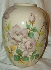 Andrea by Sadek Huge Hand Painted Roses Vase #7221 Signed