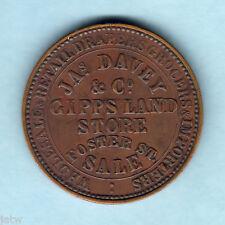Australia Token.  Davey & Co. 1862 1d.  Sale Vic..  VF/gVF