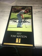 Tom Watson Signed 1977 Black Masters  Golf Card