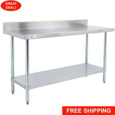 30 X 48 Stainless Steel Work Prep Shelf Table Commercial 4 Backsplash Nsf