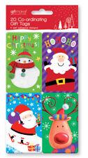 20  self adhesive Christmas gift tags,  Novelty Kids