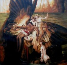 Herbert Draper The Lament For Icarus Repro,  Hand Painted Oil Painting 24x24in
