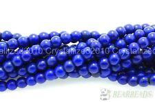 """Azul Oscuro Howlite turquesa redonda con cuentas de piedras preciosas 3 mm 4 mm 6 mm 8 mm 10 mm 12 mm 16"""""""