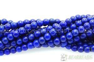 """Dark Blue Howlite Turquoise Gemstone Round Beads 3mm 4mm 6mm 8mm 10mm 12mm 16"""""""