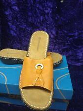 Naturalizer Melon Leather Callman Slip on Comfort Sandles Women's Size 6.5 Nice