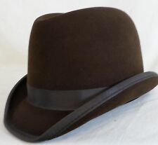 Reed Hill Saddleseat Homburg Hat Brown Fur Felt 63/4 - Made In USA
