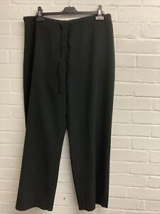 M&S Black Formal Trousers Drawstring Waist Size 20