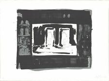 "JASPER JOHNS Ale Cans SIGNED 23"" x 30.75"" Lithograph 1975 Pop Art Black & White"