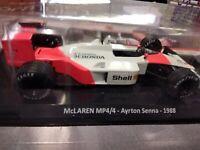 McLAREN MP4/4 AYRTON SENNA 1988 LE GRANDI FORMULA 1  C. 1:24  #01 MIB DIE-CAST