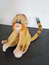 Vintage Steiff Monkey Mungo Mohair--Glass Eyes with Tag & Button 1957-1959